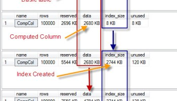 SQL SERVER - Computed Column - PERSISTED and Performance persisted5