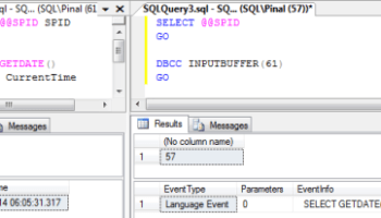 SQL SERVER – Get Query Running inSession spid1
