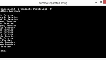 SQL SERVER - Export Data AS CSV from Database Using SQLCMD sqlcmd-comman-separated-01