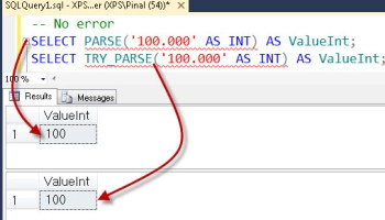 SQL SERVER - Convert Text to Numbers (Integer) - CAST and