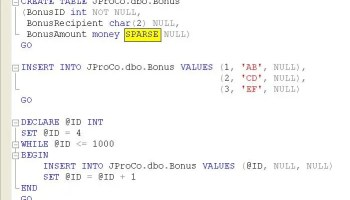 SQL SERVER - Tips from the SQL Joes 2 Pros Development Series - Data Row Space Usage and NULL Storage - Day 15 of 35 j2p_17_9