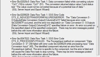 SQL SERVER - How to export data from SQL Server to Excel or any other Format? ssiserror