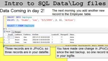 SQL SERVER - SQL Basics Video: Database Datafiles and Logfiles - SQL in Sixty Seconds #063 j2pbasics-8-10