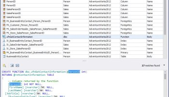 SQL SERVER - Finding Object Dependencies in SSMS - SQL in Sixty Seconds #071 devsearch01