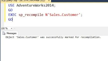 SQL SERVER - Recompile All The Stored Procedure on Specific Table RecompileStoredProcedure