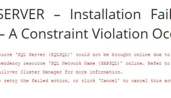 SQL SERVER – Unable to Create Always On Listener - Attempt to Locate a Writeable Domain Controller (in Domain Unspecified Domain) Failed constraintError