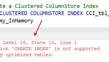 SQL SERVER - Error and Fix for Msg 1907 Cannot recreate