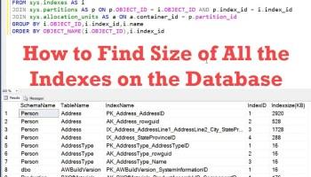 SQL SERVER - 2005 - Find Unused Indexes of Current Database indexsize