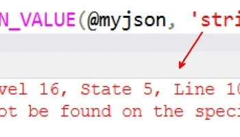 SQL SERVER - Error Fix: Msg 13601 Working with JSON Structure JSON-using-strict-01