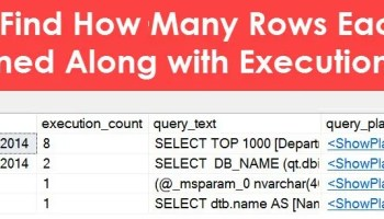 When Was SQL Server Last Restarted? - Interview Question of the Week #225 rowcountwithexecution_2