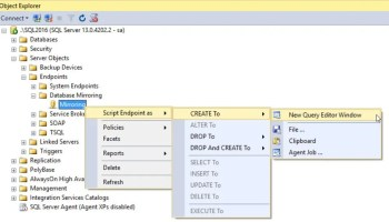 SQL SERVER - AlwaysOn Wizard Error - The Endpoints Tab Lists at Least One Endpoint that Uses Only Windows Authentication AO-Mirror-01