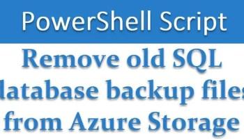 SQL SERVER - Performance Analysis of Backup to Azure removeazurebackup