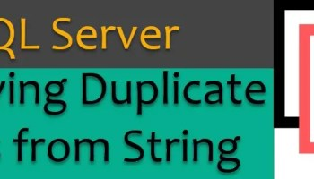 SQL SERVER - Remove All Characters From a String Using T-SQL removeduplicate