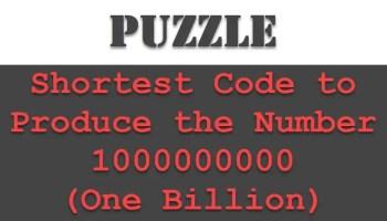 SQL SERVER - Puzzle - Write a Shortest Code to Produce Zero puzzlebillion