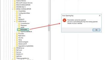 SQL SERVER - Empty Startup Parameter in SQL Cluster on One Node sscm-param-02