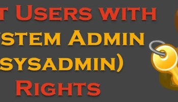 SQL SERVER - Query to Get the List of Logins Having System Admin (sysadmin) Permission sysadminrights