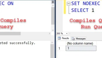 SQL SERVER - How to Validate Syntax and Not Execute Statement - An Unexplored Debugging Tip compilesandrun