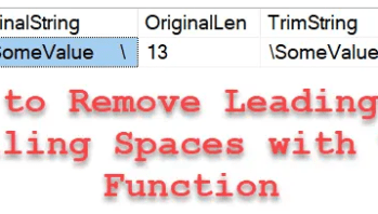 SQL SERVER - TRIM Function to Remove Leading and Trailing Spaces of