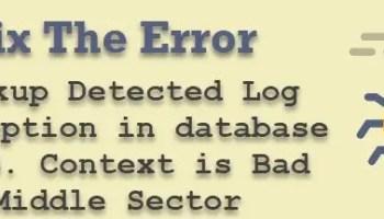 SQL SERVER - Backup Error: 3636 - An Error Occurred While Processing BackupMetadata error