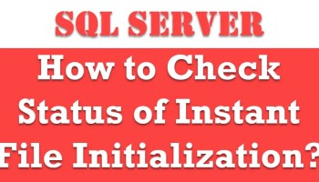 SQL SERVER 2019 - How to Turn On or Enable Instant File Initialization? ifi1