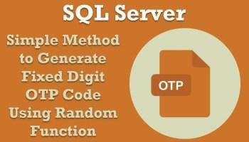 SQL SERVER - Random Number Generator Script - SQL Query OPTimage
