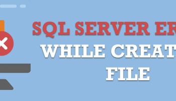 "SQL SERVER - FCB::Open Failed - TEMPDB Files Fail to be Created with Error: ""CREATE FILE Encountered Operating System Error 3"" errorfile"