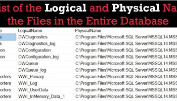 SQL SERVER - Logical Processing Order of the SELECT Statement logicalfilename