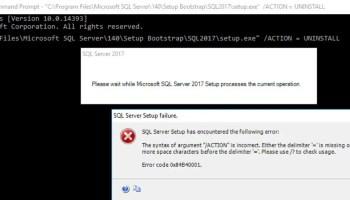 SQL SERVER - Running Multiple Batch Files Together in Parallel setup-cmd-fail-01