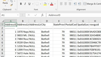 SQL SERVER - Copy Data From SSMS Query Result to Excel queryexcel6