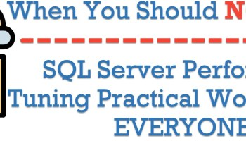 14 Days to #SQL Server Performance Tuning Practical Workshop for EVERYONE practicalperformancetuning