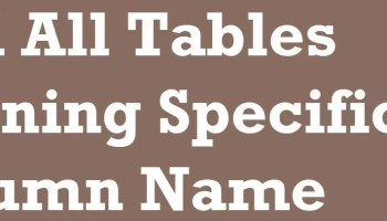 SQL SERVER - Script: Remove Spaces in Column Name in All Tables specific-columns