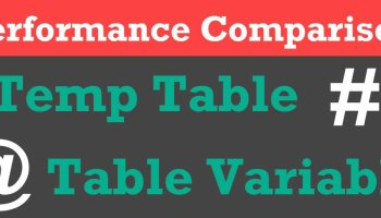 SQL SERVER - Table Variable or Temp Table - Performance Comparison - INSERT CarnalityEstimation