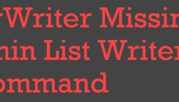 SQL SERVER - SqlServerWriter Missing from an Output of VSSadmin List Writers Command SqlServerWriter