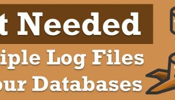 SQL SERVER - Removing Additional Transactional Log Files multiplelogfiles