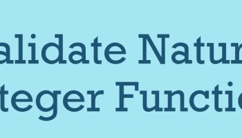 MySQL - UDF - Validate Integer Function validatenatural1