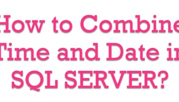 SQL SERVER - Convert Date Time AT TIME ZONE CombineTimeDate