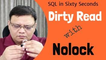 SQL SERVER - Simple Example of READPAST Query Hint 110-Nolock-NoGood-DirtyRead-yt