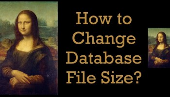 SQL SERVER - Shrinking NDF and MDF Files - A Safe Operation ChangeDatabase1