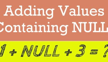SQL SERVER - List All the Nullable Columns in Database addingvalues