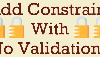 SQL SERVER - CHECK CONSTRAINT to Allow Only Digits in Column novalidation