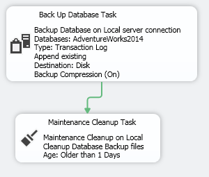 Maintenance Plan - connected tasks