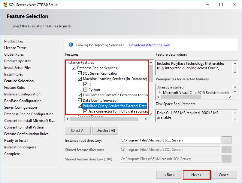 SQL Server 2019 Setup - Feature Selection 02
