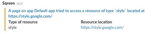Slack notification CSP