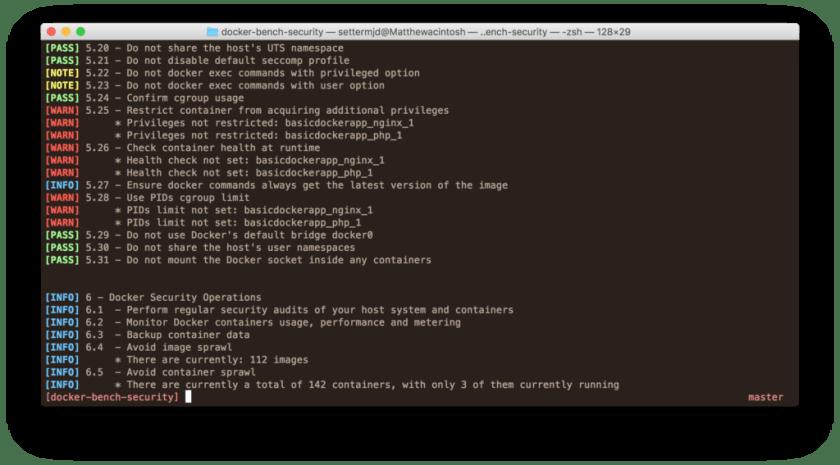 Docker Security Benchmark Sample