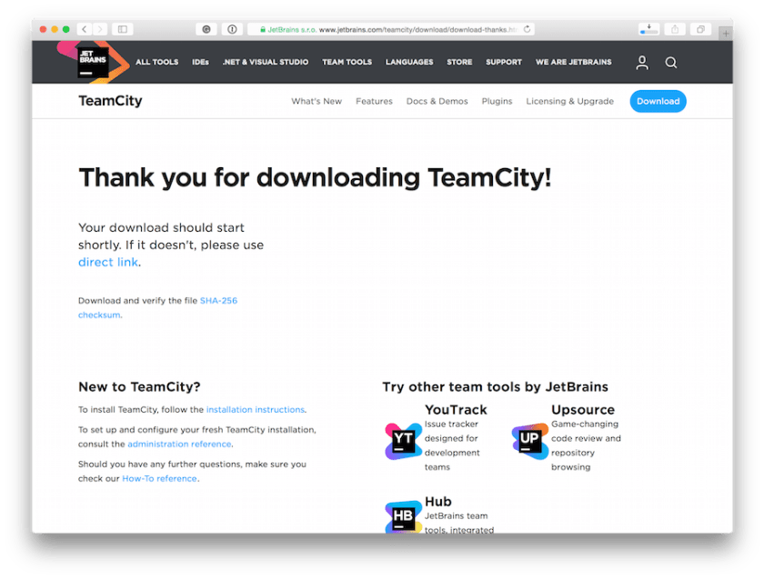 teamcity-download-page