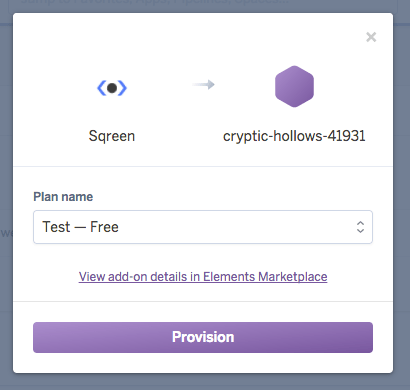 Heroku Select your plan