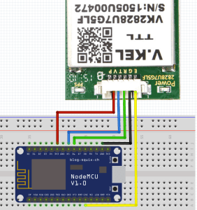 Connecting the uBlox Module to the ESP8266