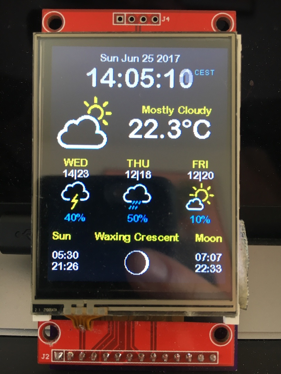New WeatherStation Color Version published - Squix - TechBlog