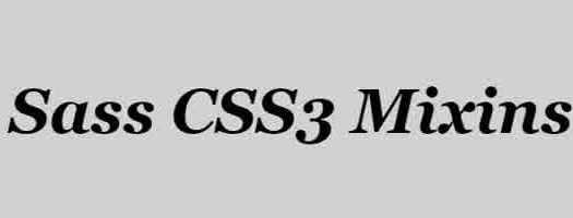 sass-css3-mixins