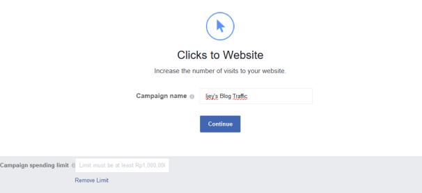 click to website fb ads